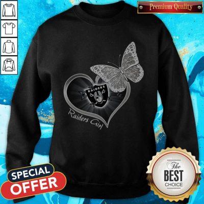 Pretty Butterfly Heart Raiders Girl Sweatshirt
