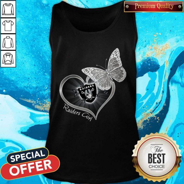 Pretty Butterfly Heart Raiders Girl Tank Top