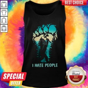 Pretty Native Bigfoot I Hate People Tank Top