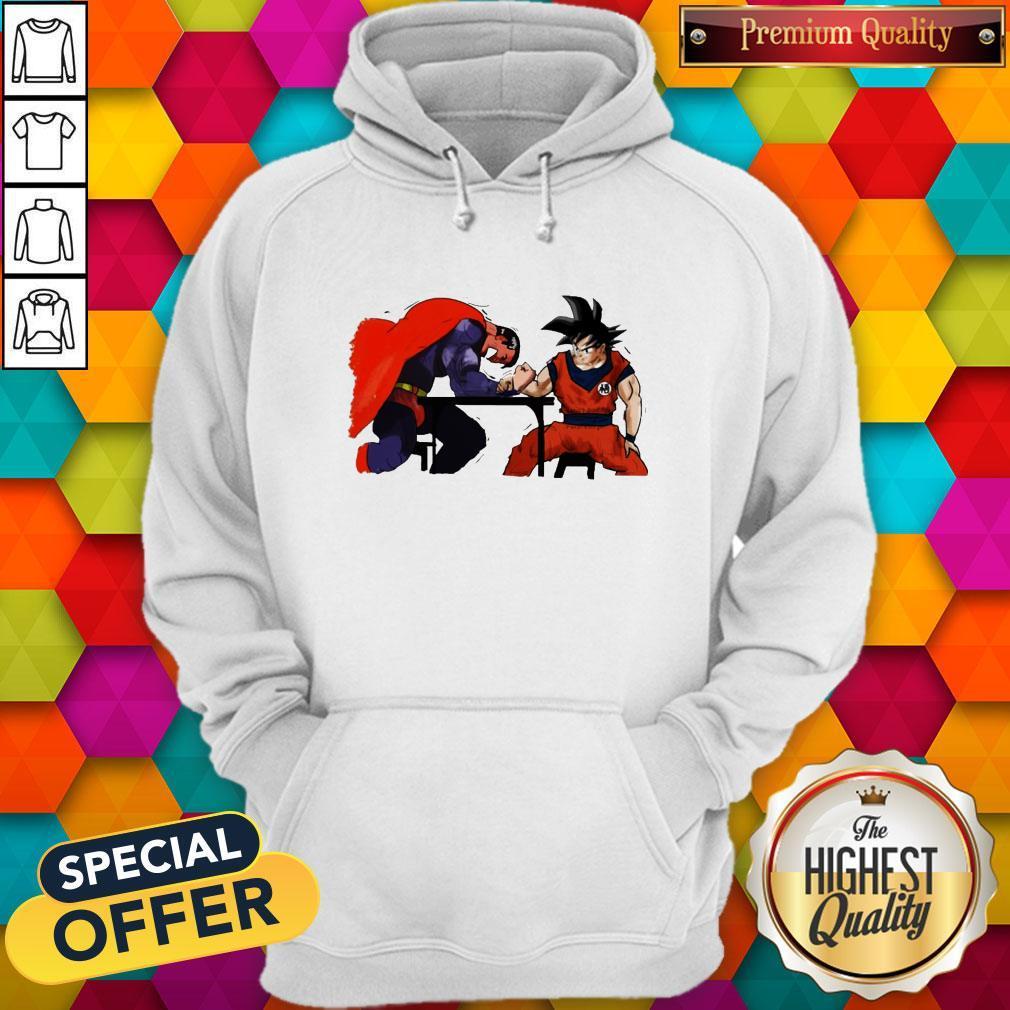 Pretty Songoku Vs Superman Arm-Wrestling Hoodie
