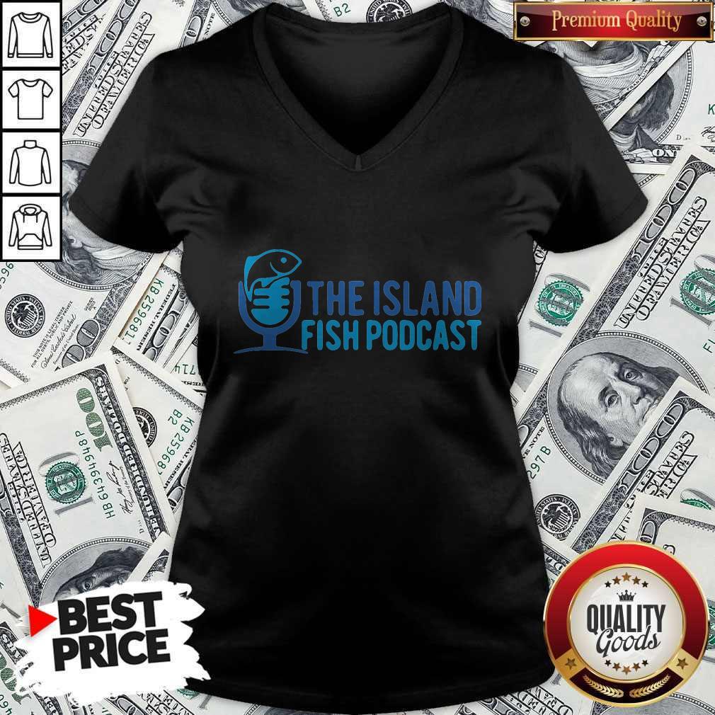 Pretty The Island Fish Podcast V-neck