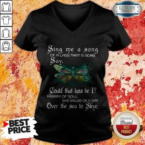 Sina Me A Sona Of A Lass That Is Gong Say Butterfly V-neck