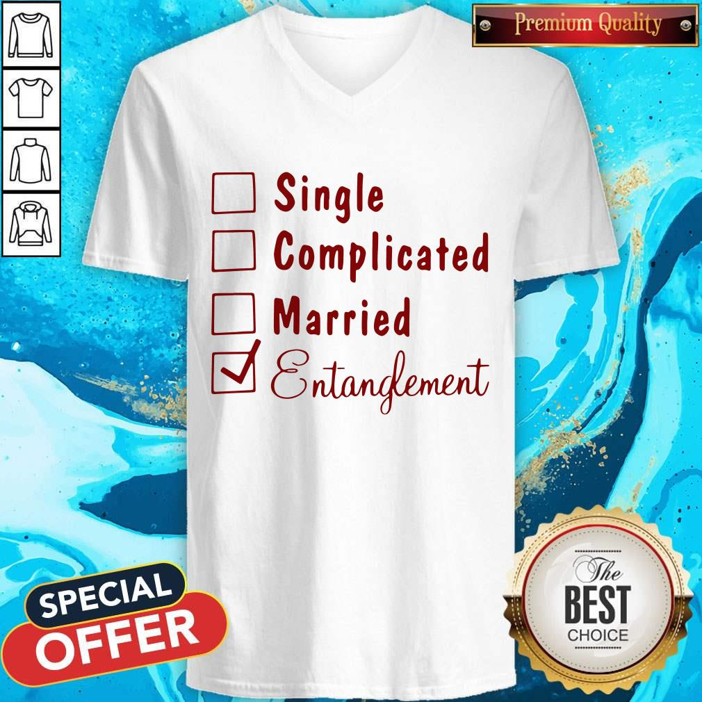 Single Complicated Married Entanglement V-neck