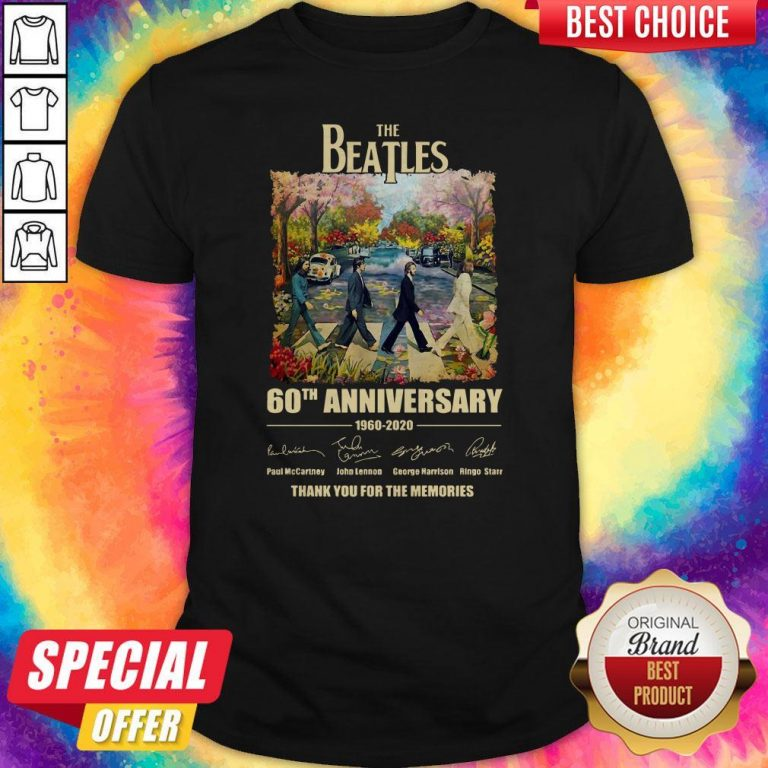 The Beatles 60th Anniversary Thank You For The Memories Abbey Road Shirt