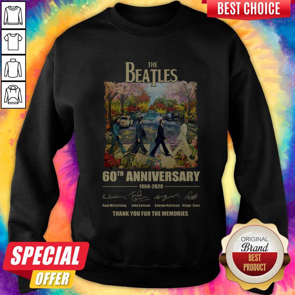 The Beatles 60th Anniversary Thank You For The Memories Abbey Road Sweatshirt