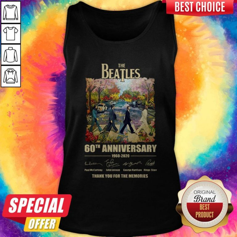 The Beatles 60th Anniversary Thank You For The Memories Abbey Road Tank Top