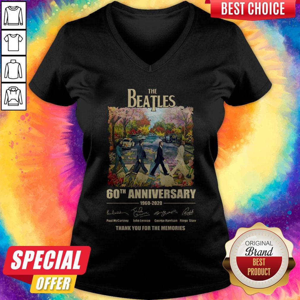 The Beatles 60th Anniversary Thank You For The Memories Abbey Road V-neck