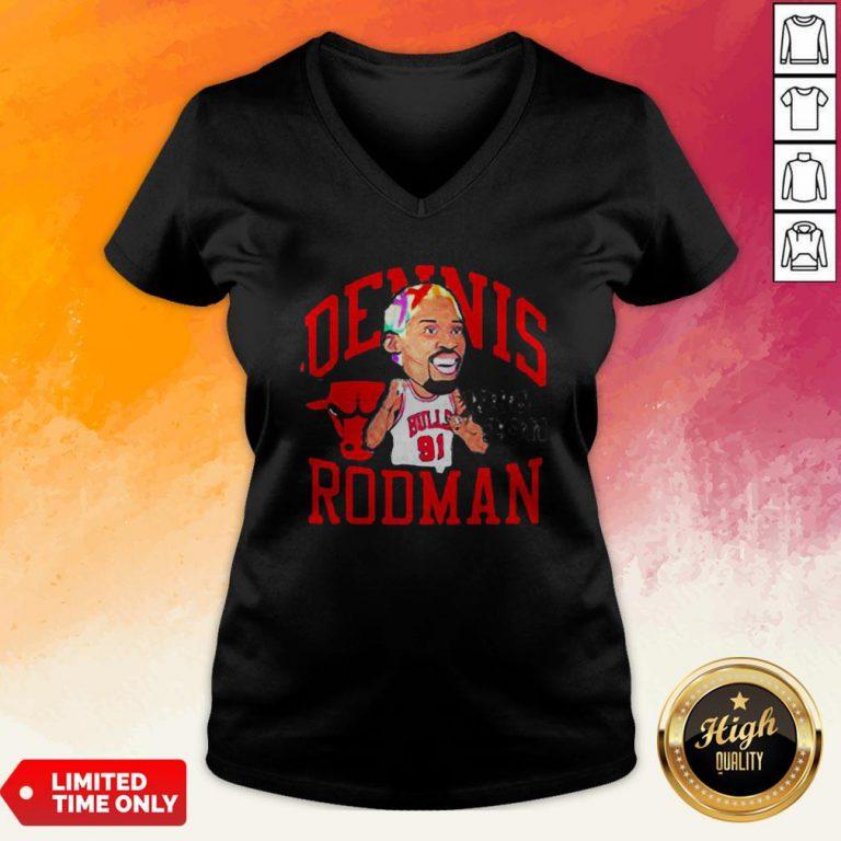 91 Dennis Rodman Chicago Bulls 1986 2011 V-neck