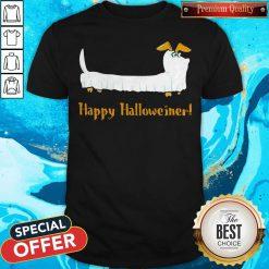 Dachshund Ghost Happy Halloweiner Shirt