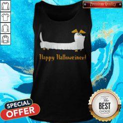 Dachshund Ghost Happy Halloweiner Tank Top