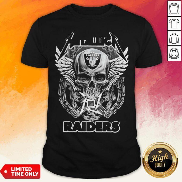 Good Skull Metallic Raiders Shirt