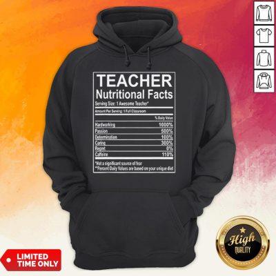 Good Teacher Nutrition Facts Hoodie
