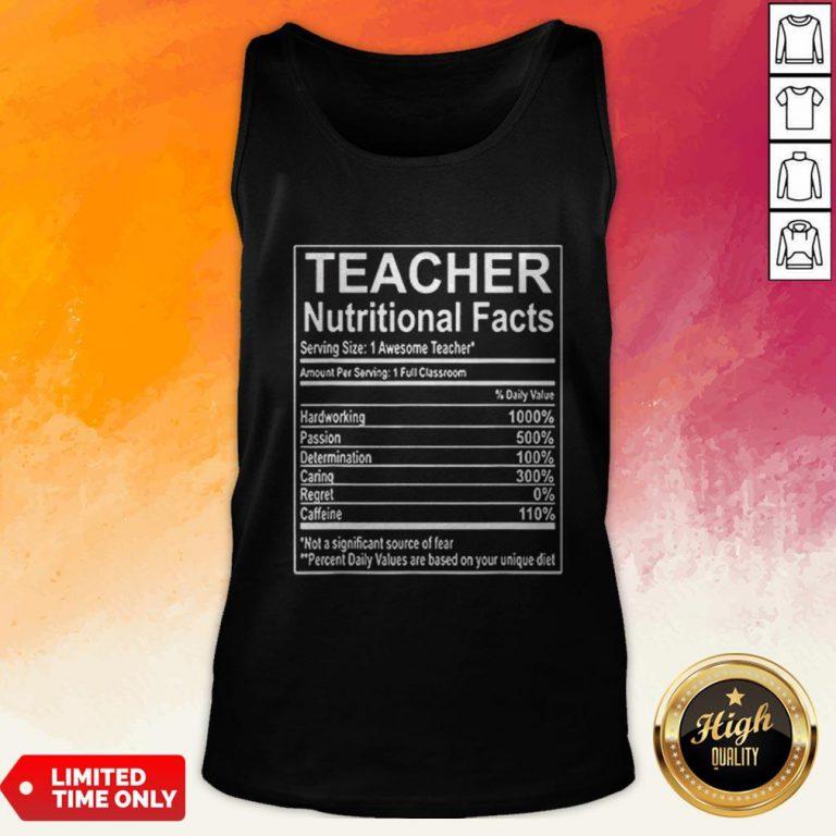 Good Teacher Nutrition Facts Tank Top