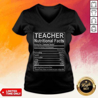 Good Teacher Nutrition Facts V-neck