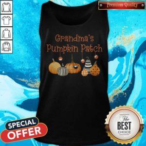 Grandma Pumpkin Patch Halloween Custome Tank Top