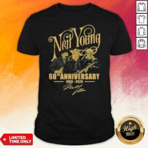 Neil Young 60th Anniversary 1960 2020 Signatures Shirt