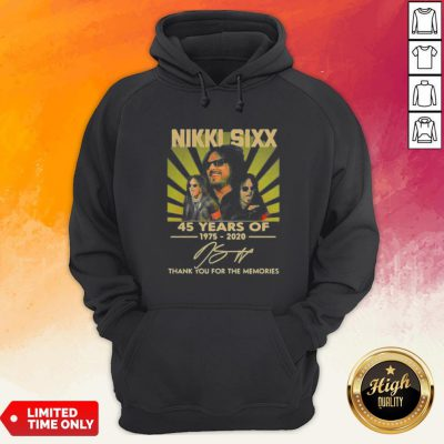 Nikki Sixx 45 Years Of 1975 2020 Thank You For The Memories Signatures Hoodie