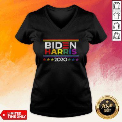 Official Lgbt Biden Harris 2020 Stars V-neck