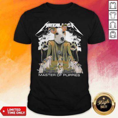 Russell Terrier Metallica Master Of Puppies Shirt