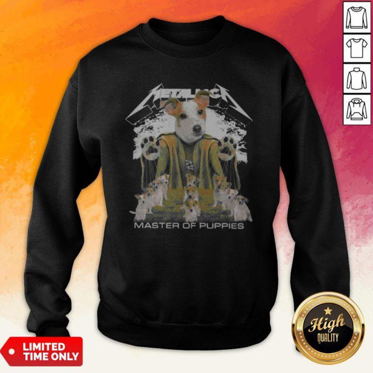 Russell Terrier Metallica Master Of Puppies Sweatshirt