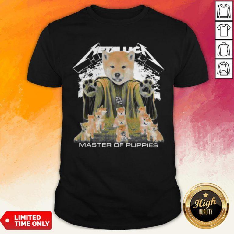 Shiba Inu Metallica Master Of Puppies Shirt