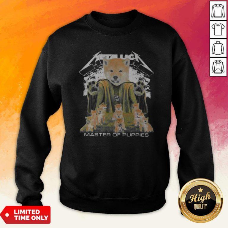 Shiba Inu Metallica Master Of Puppies Sweatshirt