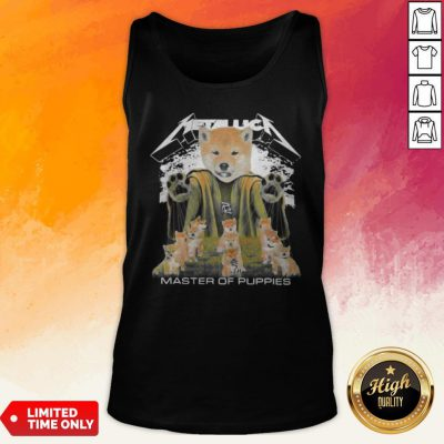 Shiba Inu Metallica Master Of Puppies Tank Top