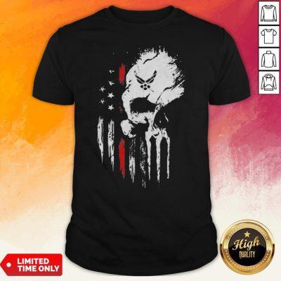 Skull Marine American Flag Independence Day Shirt