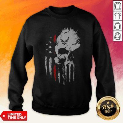 Skull Marine American Flag Independence Day Sweatshirt