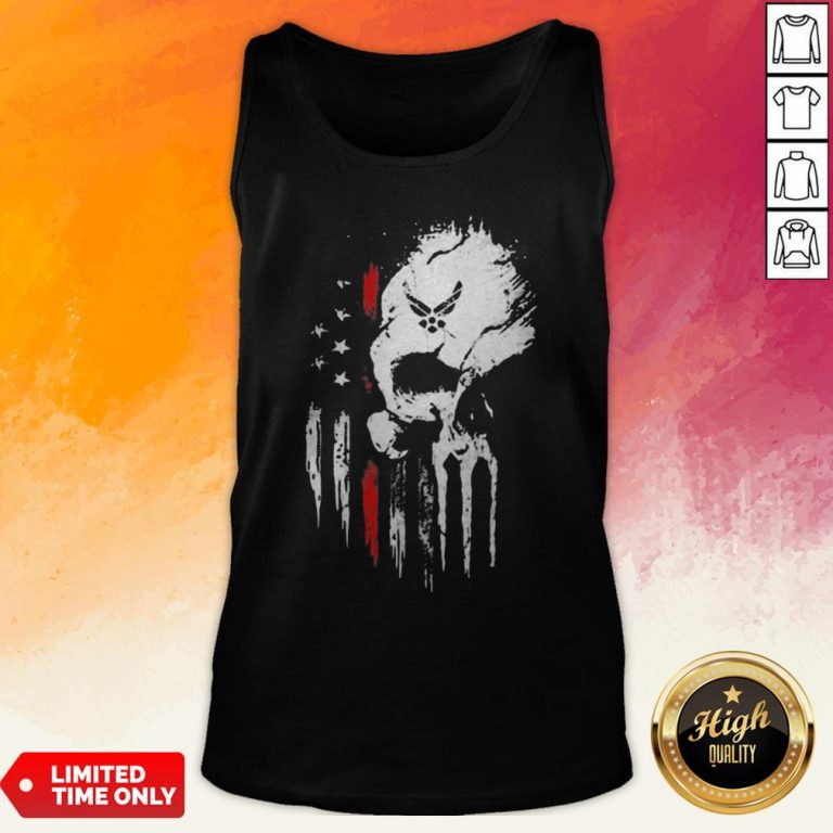 Skull Marine American Flag Independence Day Tank Top