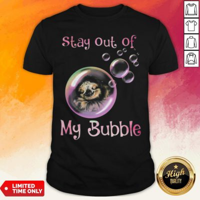 Sloth Sleeping Stay Out Of My Bubble Covid 19 Shirt