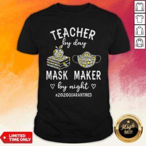 Teacher By Day Mask Maker By Night 2020 Quarantined Shirt
