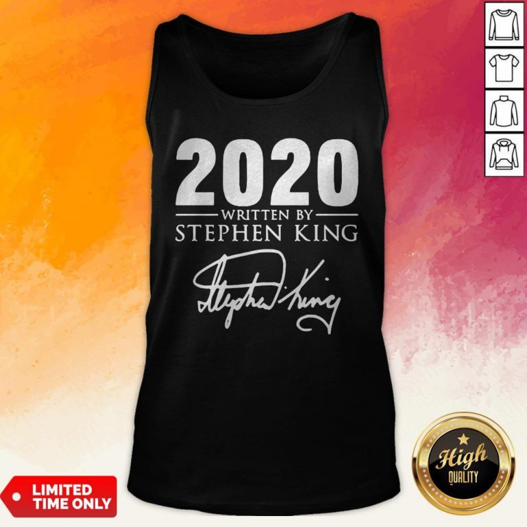 2020 Written By Stephen King Signature Tank Top
