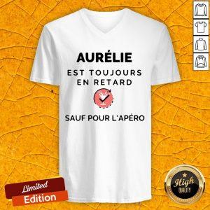 Aurelie Est Toujours En Retard Saul Pour Lapero V-neck