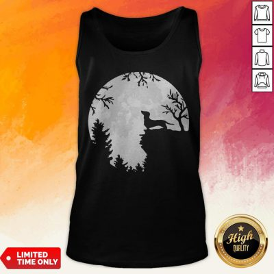 Awesome Dachshund Moon Light Tank Top