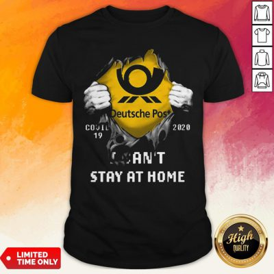 Blood Inside Me Deutsche Post Covid 19-2020 I Can't Stay At Home Shirt