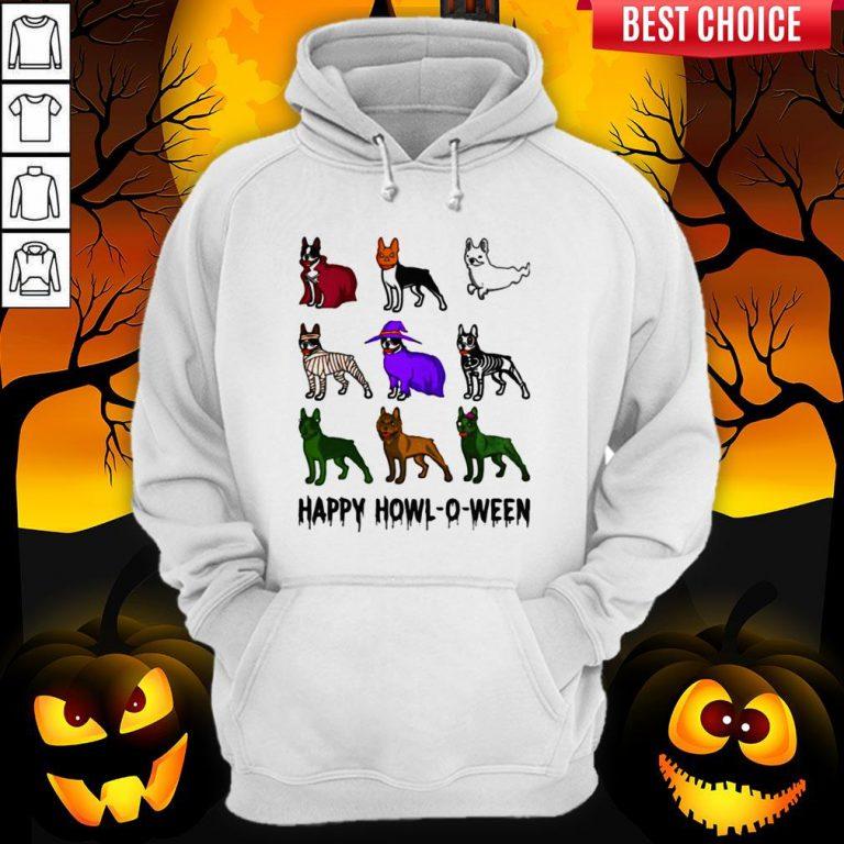 Bostie Happy Howl O Ween Halloween Hoodie