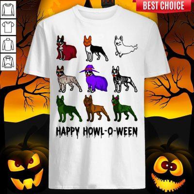 Bostie Happy Howl O Ween Halloween Shirt