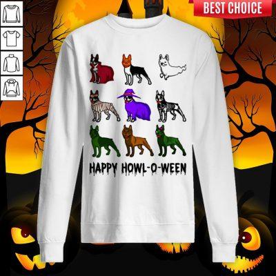 Bostie Happy Howl O Ween Halloween Sweatshirt