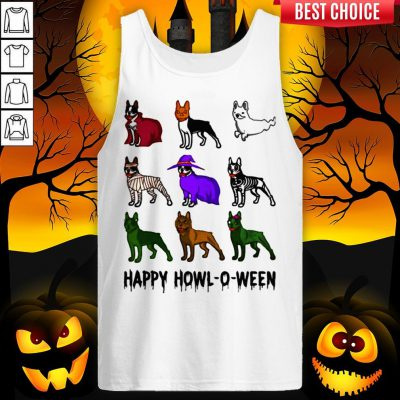 Bostie Happy Howl O Ween Halloween Tank Top