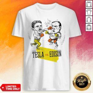 Boxing Nikola Tesla And Thomas Edison Shirt