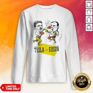 Boxing Nikola Tesla And Thomas Edison Sweatshirt