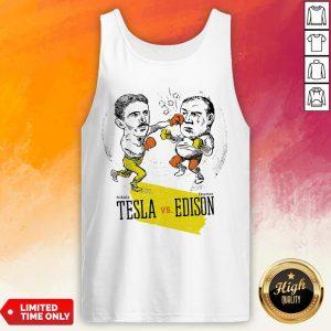 Boxing Nikola Tesla And Thomas Edison Tank Top