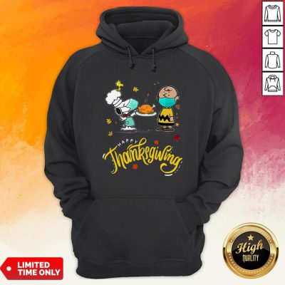 Charlie Brown Snupy And Woodstock Happy Thanksgiving Hoodie