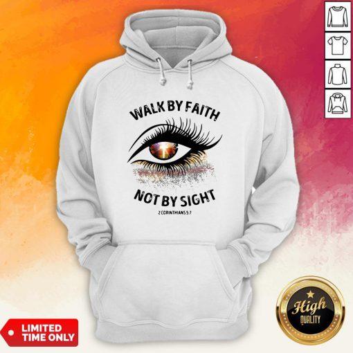 Cross Eye Walk By Faith Not By Sight 2 Corans Hoodie