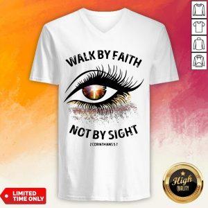 Cross Eye Walk By Faith Not By Sight 2 Corans V-neck