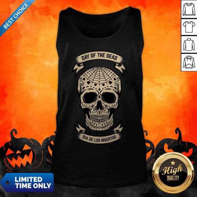 Day Of The Dead Skull Dia De Los Muertos Vintage Tank Top