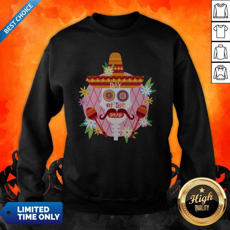Day Of The Dead Sugar Skull Mexican Holiday Sweatshirt