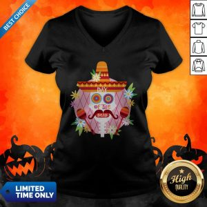 Day Of The Dead Sugar Skull Mexican Holiday V-neck