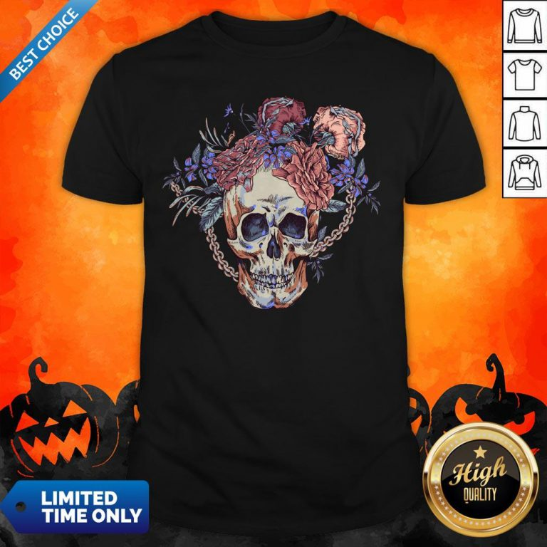 Day Of The Dead Vintage Sugar Skull Shirt